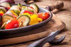 spiedini di verdure.