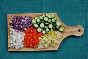 tavolozza di verdure foto