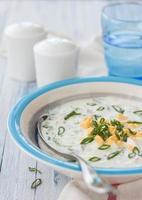 zuppa fredda di cetrioli foto