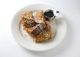 toast francese in crosta di fiocchi di mais
