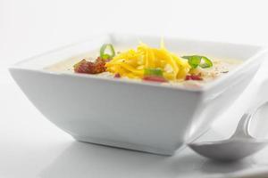 zuppa di pesce e granoturco foto