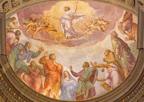 roma - ascensione del signore affresco
