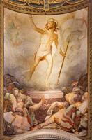 roma - l'affresco della risurrezione in chiesa foto