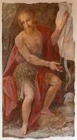 roma - affresco di st. Giovanni Battista