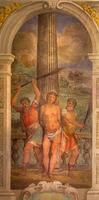 bologna - flagellazione dell'affresco di Gesù foto