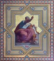 vienna - affresco del profeta osea foto