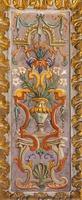Roma - affresco del motivo floreale rinascimentale foto