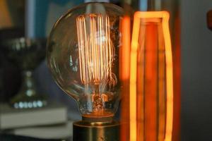 lampadina da un negozio di antiquariato ad atlanta, ga foto