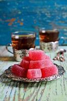gelatina di caramelle rosa foto
