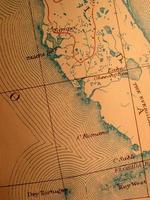 antica mappa, florida e chiavi foto