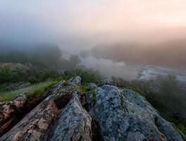mattina nebbiosa del fiume