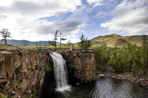 cascata del fiume Orkhon foto