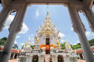 phra borom that chaiya, surat thani, thailandia foto