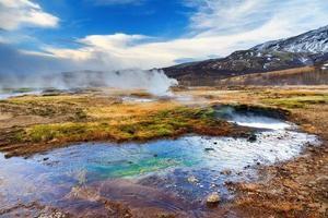 paesaggio di Haukadalur foto