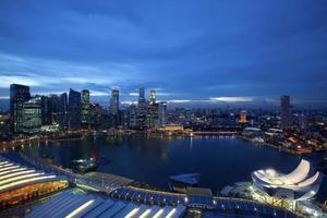 orizzonte di Singapore foto