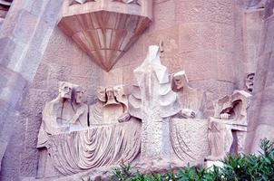 dettagli architettonici di sagrada familia barcellona foto