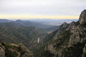 montagna di Montserrat foto