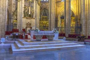 Interno della cattedrale di Barcellona, Catalogna, Spagna