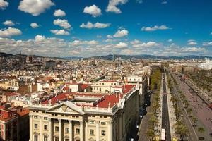 paesaggio urbano di Barcellona foto