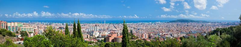 panorama dell'orizzonte di Barcellona, Spagna foto