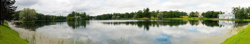 panorama del lago nel parco di catherine 1168. foto