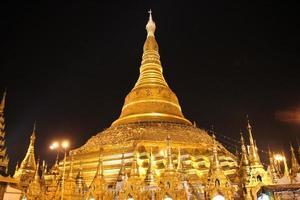 Pagoda di Shwedagon, Yangon, Myanmar foto