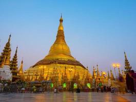 Pagoda di Shwedagon a Yangon, Myanmar foto