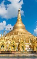Pagoda di Shwedagon a Yangon, Myanmar. foto