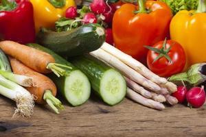 diverse verdure fresche gustose