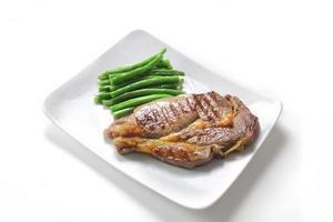 bistecca di manzo con fagiolini foto