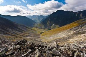 magico paesaggio montano. foto