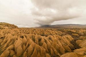 paesaggio geologico della cappadocia foto