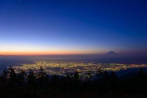 paesaggio di kofu e mt.fuji foto