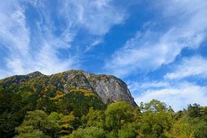 paesaggio delle Alpi del nord del Giappone foto