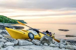 kayak al tramonto