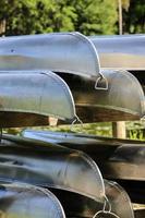 canoe di alluminio foto