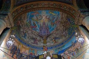 mosaico ad affresco in chiesa foto