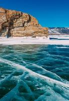 baikal invernale congelato foto