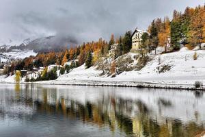 lago di st. Moritz inverno