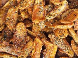 chips di banana. foto