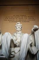 statua commemorativa di Lincoln foto