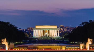 memoriale di Lincoln di notte. foto