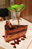 torta al cioccolato alla banana foto
