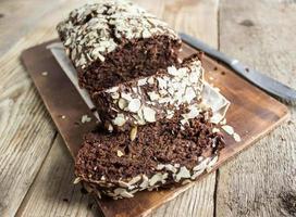 torta al cioccolato e banana foto