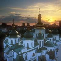 frammento di st. Cattedrale di Sofia al tramonto. foto