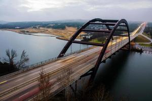 pennybacker loop 360 bridge austin texas fog patchy foto