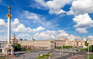 piazza centrale di kiev, ucraina