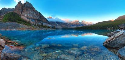 panorama del lago morenico foto