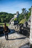 rovine Maya di Tikal, parco nazionale. viaggiare in guatemala.