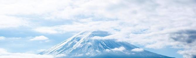 panorama della montagna fuji foto